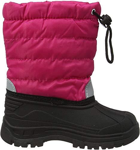 Playshoes gefütterte Kinder Winterstiefel, warme Schneestiefel mit Innenfutter , Pink (18 pink) , 20/21