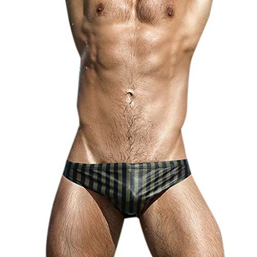 Zlimx Pantaloncino Mare Uomo,Costume da Bagno Uomo Traspirante Tronchi Pantaloni Beach Stripe Running Intimo da Nuoto