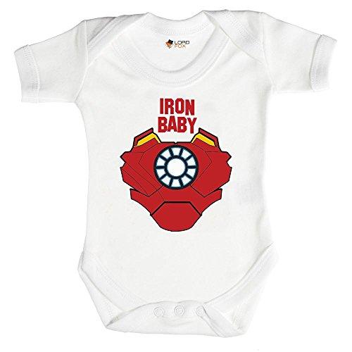 """Body """"Iron Baby"""" Marvel para bebés de 0-24 meses, todos los tamaños, unisex Talla:3-6 meses"""