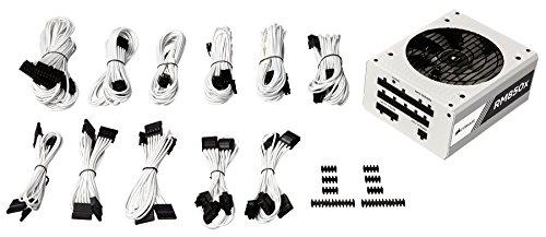 CORSAIR RMX White Series, RM850x, 850 Watt, 80+ Gold Certified, Fully Modular Power Supply - White