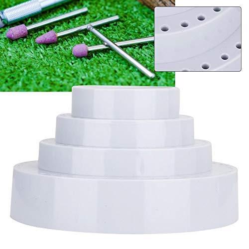 Qkiss meerdere roterende ronde vorm boren standaard organizer opslag roterende boren opbergkoffer boren opbergstandaard