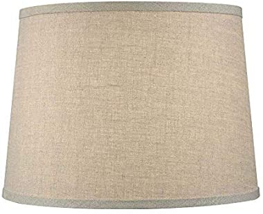 Upgradelights Sand Linen 12 Inch Uno Lamp Shade Replacement 6x12x7.5