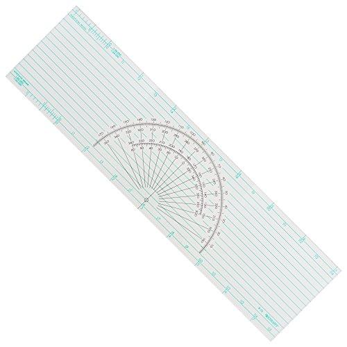 "Westcott Course Protractor Plotter Ruler, 15"", Transparent (P-72)"