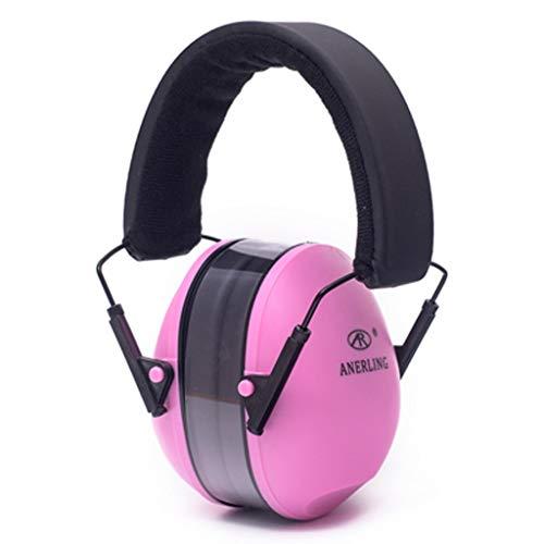 TXXM Insonorisés Earmuffs Professional Anti-Bruit interférence du Sommeil Student Mute Réduction du Bruit Industriel Casque de Couchage Confortable (Color : Pink, Size : 20 * 13cm)