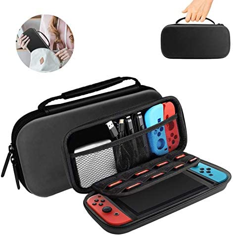 HONEST KIN Portable Nintendo Switch Lite Case with 8 Games Cartridges Protective Hard Shell product image