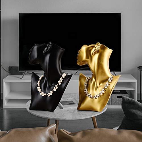 Sebasty Ornamente Resin Handwerk Ohrringe Halsketten Anhänger Porträt Showcase Requisiten Schmuck-Display Schmuck Taobao Schießen
