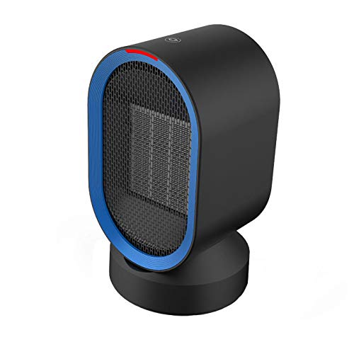 Fan-Ling 1pcs Mini Household Electric Heater,Desktop Mini Silent Portable Adjustment Rotatable Air Heater Fan,Safe Warm Home Office Tool,Efficient Heat Dissipation (Black)