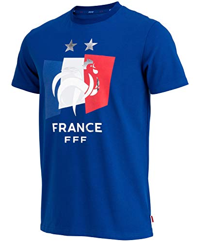 Equipe de FRANCE de football T-Shirt FFF - 2 étoiles - Collection Officielle Taille Homme L