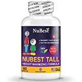 peak height growth pills - Maximum Natural Height Growth Formula - NuBest Tall 60 Veggie Capsules - Herbal Peak Height Pills - Grow Taller Supplements - Doctor Recommended - for People Who Don't Drink Milk Daily
