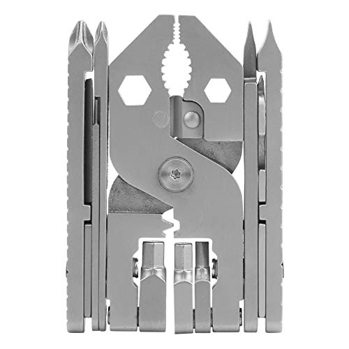 ZHenMei 304 Acero inoxidable plegable Multi-Alicates Destornillador 25 en 1 Multi-Alicates Portátil Universal Alicates Al Aire Libre Multi-Herramienta
