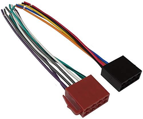 AERZETIX - Set di 2 - Connettore cavo - spina ISO - femmina - standard - per autoradio - C1986