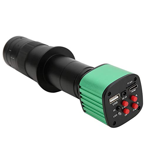 Cosiki Digitalmikroskope, 16MP USB Industrielle elektronische Digitalvideomikroskopkamera mit 180X C-Mount Lens Test Tool(EU PLUG)