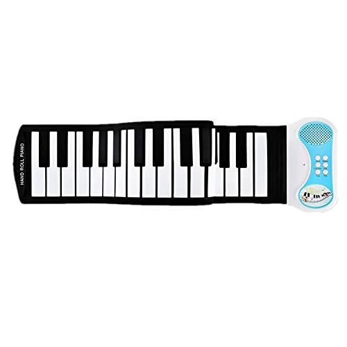 Zhongsufei-EM Tragbares Roll-Up-Klavier USB 49 Tasten MIDI aufrollen Elektronische Klaviertastatur Silikon Flexibel für Anfänger oder Fingerpower