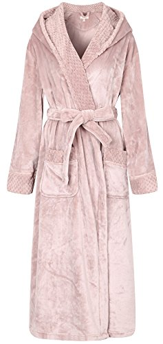 Richie House Women's Soft and Warm Robe Bathrobe Plush RHW2823-A-M