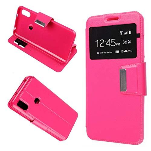 Mb Accesorios Funda Tapa Libro Rosa para Xiaomi Mi A2 Lite/