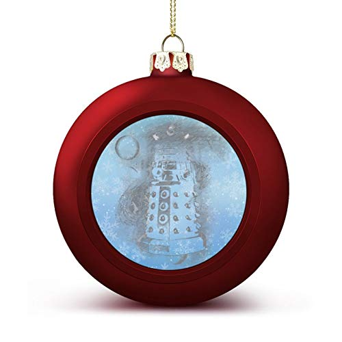 Enylvjoy Eternal Dalek Who Tardis Dr Doctor Custom Christmas Ball Ornaments with Lanyard Beautifully Decorated Christmas Ball Gadgets for Holiday Party Decoration Xmas Tree Hanging Decorated