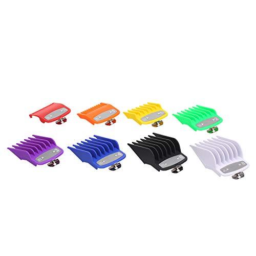 Sangmei 8 PCS Guia de Corte Pente Barbeiros Conjunto de Ferramentas de Cabeleireiro Limite Colorido Conjunto de Pentes Compatível com WAHL Máquina de Cortar Cabelo Elétrica