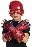 DC Justice League - Guantes de Flash para niños, accesorio disfraz licencia oficial, talla única 3-10 años (Rubie's 34255)