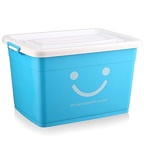 YJQ plastic storage box with lid, fabric storage box, drawer storage box, foldable thick canvas storage box, folding basket with rope handle (washable), used to store toys, clothing, books