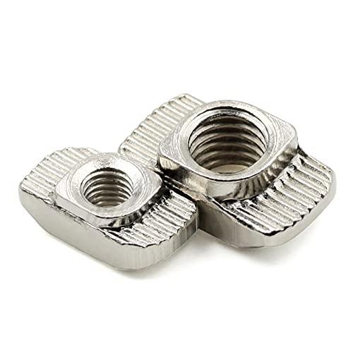 50PCS M3/M4/M5 2020 Aluminum Extrusion 20 Series Slot T Nut Sliding Hammer Drop in Nut Fasten Connector-M3