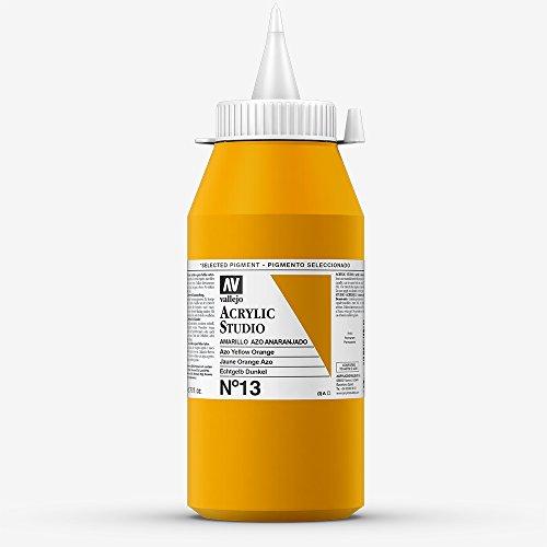 Vallejo : Studio Acrylic Paint : 1000ml : Azo Yellow Orange