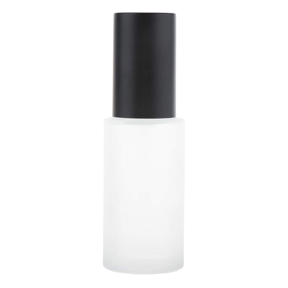 租界純粋に疑わしいポンプボトル ローションボトル ポンプびん 詰め替え式 ガラス 全3種選択でき - 40ml