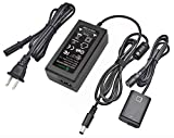 Gonine AC-PW20 Power Supply AC Adapter NP-FW50 Dummy Battery DC Coupler Set, for Sony Alpha A6500, A6400, A6300, A7, A7II, A7RII, A7SII, A7S, A7S2, A7R, A7R2, A55, A5100, RX10 Cameras.