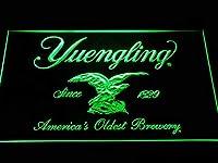 Yuengling Beer LED看板 ネオンサイン ライト 電飾 広告用標識 W40cm x H30cm グリーン