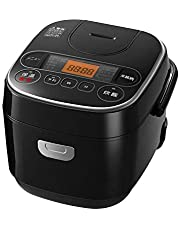 【Amazon限定ブランド】Smart Basic アイリスオーヤマ 炊飯器 マイコン式 3合 極厚銅釜 銘柄炊き分け機能付き ブラック Smart Basic RC-MA30AZ-B