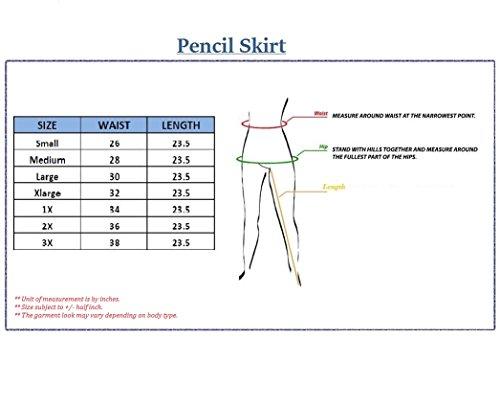 Womens Pencil Skirt for Office Wear KSK43584 10589 BLACK L