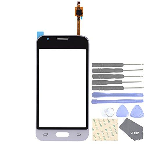 VEKIR Repuestos de teléfonos celulares para Samsung Galaxy J1 Nxt J105 J1 Mini 2016 Panel de Vidrio de Pantalla táctil(White)