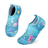 UBFEN Zapatos de Agua Bebé Niño Niña Natación Zapatos Descalzos Secado Rápido Respirable Zapatos de Playa de Deportes Acuáticos