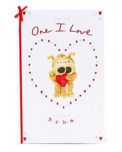 One I Love Greetings Card - Leuke Boofle Verjaardagskaart voor One I Love - Cadeaukaart voor haar - Cadeaukaart voor hem - Romantische Verjaardagskaart