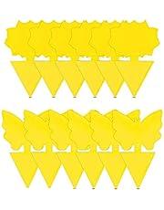 ProLeo, 50 stuks gele stickers tegen rouwmuggen, insecten, kleverige insectenvallen, gele vliegenval voor planten op het balkon of in de tuin