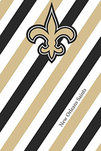 New Orleans Saints: Saints Striped Notebook & Journal | NFL Fan Essential | Saints Fan Appreciation