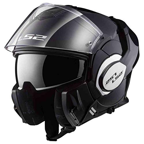 Astone Helmets Herren Valiant Motorradhelm, schwarzer Lack, XXL