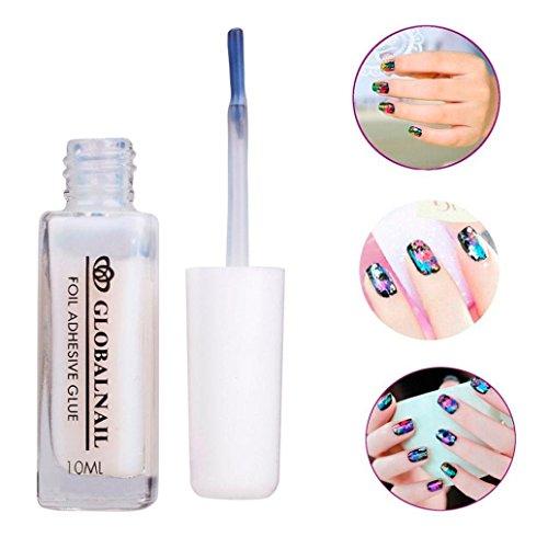 Lhwy, 1 colla adesiva bianca per adesivi per unghie, colla per Nail Art