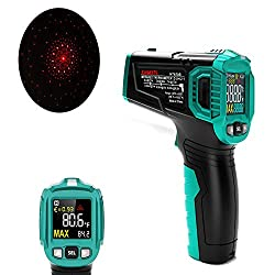 KAIWEETS Infrared Thermometer, Handheld Infrared Thermometer Gun Non-Contact Color Display -58?~1022? (-50? ~ 550?) with Adjustable Emissivity and Temp Alarm Setting for Cooking HT650B