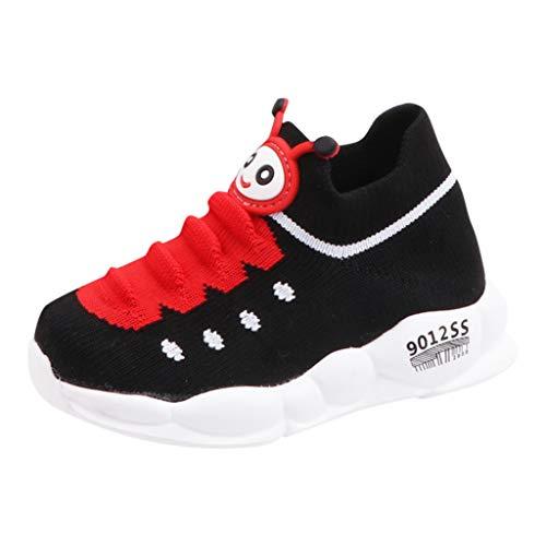 HDUFGJ Sneaker Unisex Baby Raupe Socken Schuhe Freizeitschuhe rutschfeste Bequem Leichtgewicht Laufschuhe Faule Schuhe Turnschuhe fitnessschuhe30 EU(Schwarz)