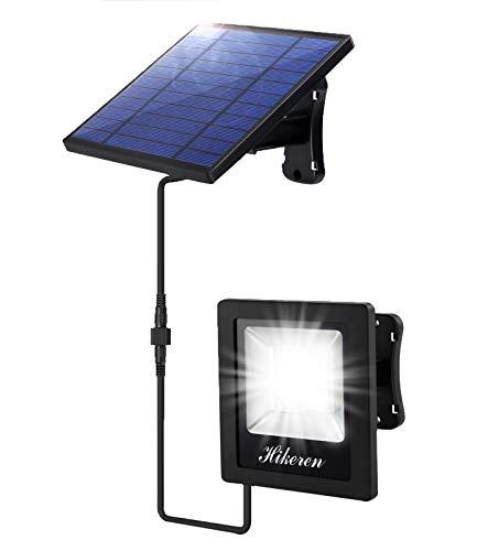 Luz Solar Exterior, Foco Led Solar Exterior Separada, IP65 Impermeable, con 5M Cable, 4400mAh Batería de Gran Capacidad, Lámpara Solar para Patio, Jardín, Balcón, Garaje (Luz Blanca)…