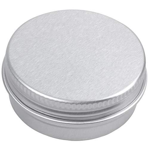 WOVELOT boite cosmetiques boite a la creme Boite du filetage en aluminium en argent Boite d'emballage cosmetique 15 ml 10 pieces par un paquet