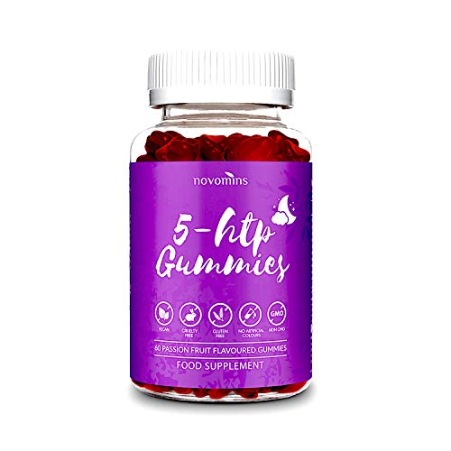 5 Gomitas HTP - 5 HTP Máximo 5 HTP Suplemento con L-Teanina, Magnesio, Vitamina B12,...
