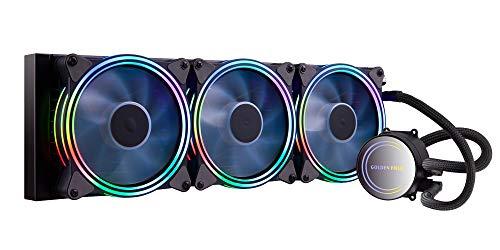 GOLDEN FIELD ICY Chill Series CPU Kühler 360mm AIO Wasserkühlung RGB Liquid Cooler mit Kühler Wasser Kühlsystem für Desktop-PC Intel AMD Sockel