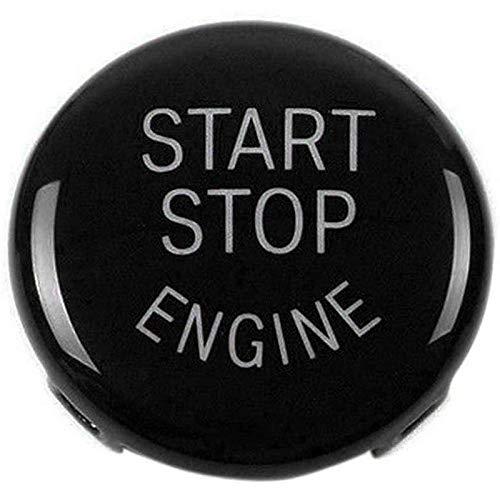 TOOGOO Start Stop Engine-Taste Druckknopf Zündschalter Abdeckung Ersatz Für BMW X1 X3 X5 X6 Z4 (E84, E83, E70, E71, E89) 1 3 5 Serie (E87, E90 / E91 / E92 / E93, E60) (Schwarz)