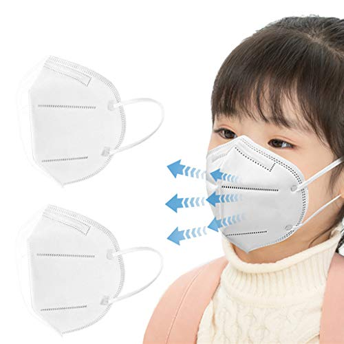 White n95_Disposable_Face_Masks for Child, 5Ply High Filtration Protection Shield (20Pcs)