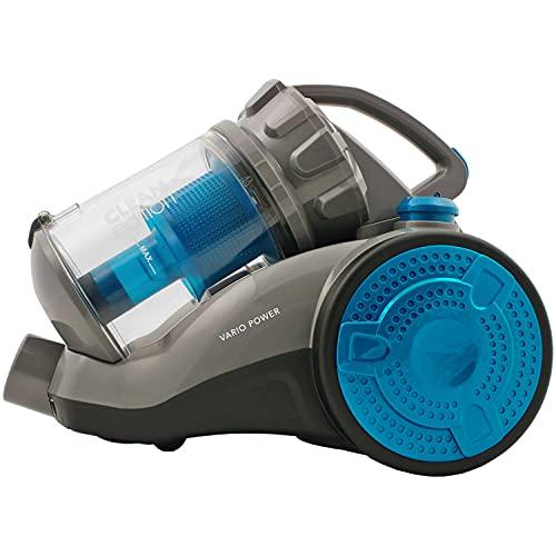 Clean Edition Power Zyklon Bodenstaubsauger blau/grau, beutellos, 2,5 Liter, HEPA11-Filter, 800 Watt
