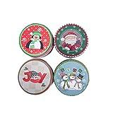 UPKOCH 4pcs Weihnachtsdose Keksdosen Geschenkbox Runde Süßigkeit Dosen...