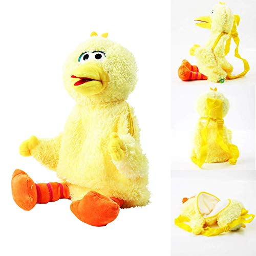 ADIE Plüschtier 45cm Sesamstraße Rucksack Elmo Cookie Guy Big Bird Weiche Plüschtasche Geburtstagsgeschenk (Farbe: rot) (Color : Yellow)