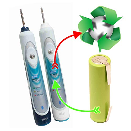 akkutauschen kompatibel mit Braun Oral B Sonic Complete Profi-Akkutausch für Zahnbürsten von Braun Oral B Sonic Complete