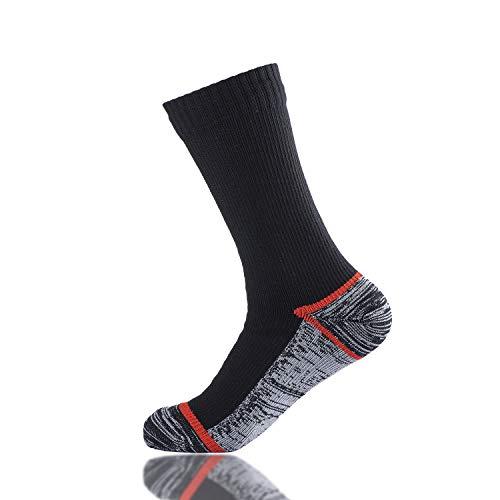 VFAMAN Waterproof socks for MEN WOMEN For outdoor activities 100 waterproof breathable windproof golf skating cycling hiking fishing Gray XLUK12 14 EU47 49